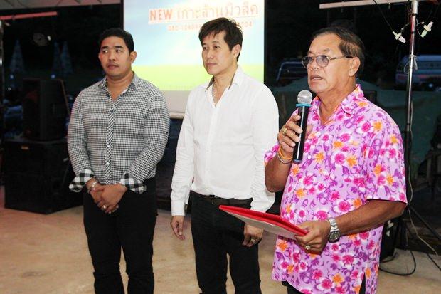 Sanit Bunmachai (rechts) präsidierte bei dem Seminar gemeinsam mit Nakhorn Pholukinth und Banjong Banthunprayukt.